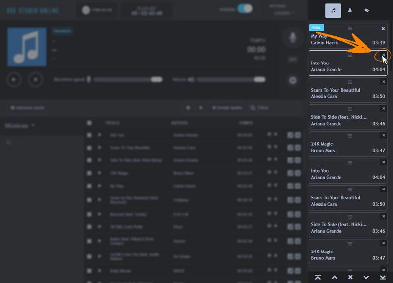 Como remover música da playlist