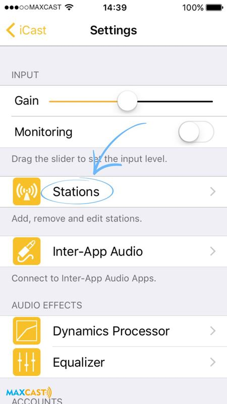 como transmitir radio com iphone