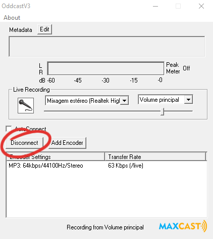 Como Configurar o ODDcast v3 Para Transmissões Ao Vivo