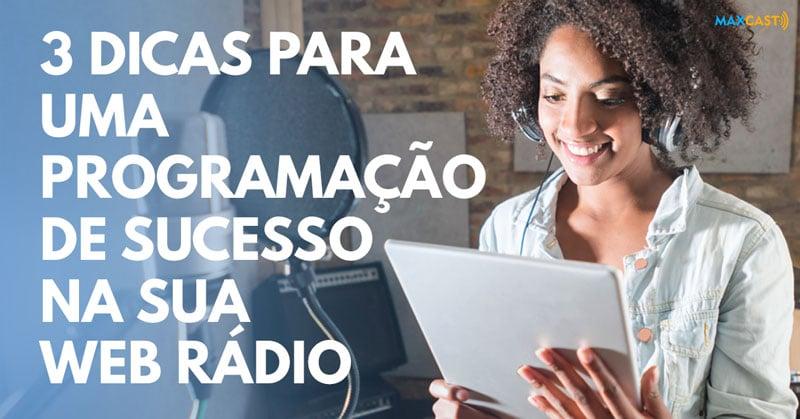 programação para web rádio