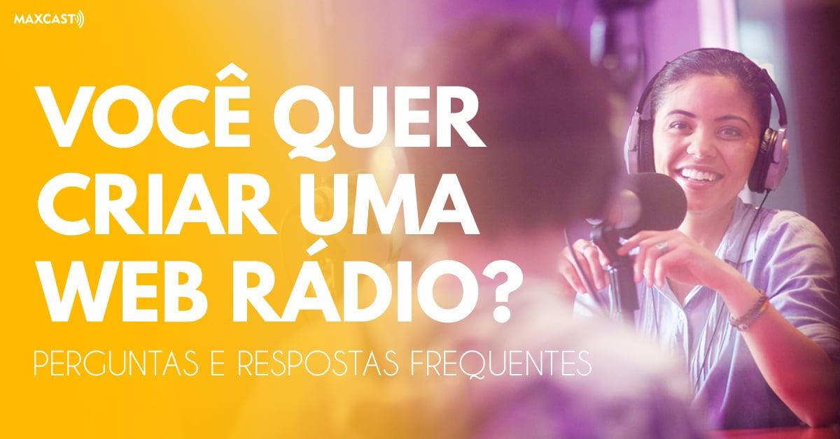 criar uma web rádio