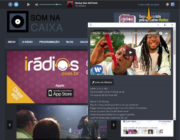 Player para Web Rádios com capa, letra e vídeo